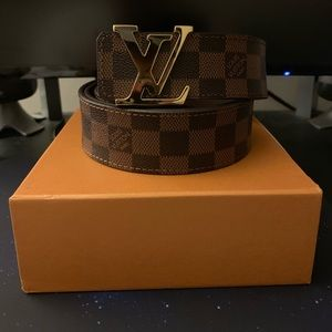 Louis Vuitton Damiere ebene Belt Size 40